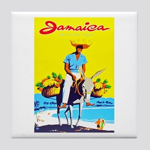 Jamaica Travel Poster 1 Tile Coaster