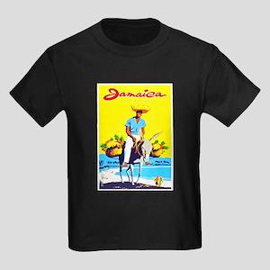 Jamaica Travel Poster 1 Kids Dark T-Shirt