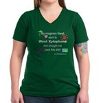 Imaginary Friend Women's V-Neck Dark T-Shirt