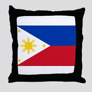 Philippine flag Throw Pillow