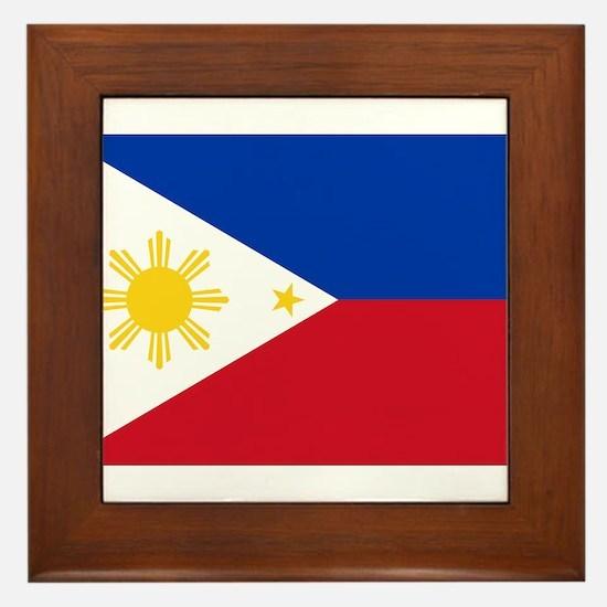 Philippine flag Framed Tile