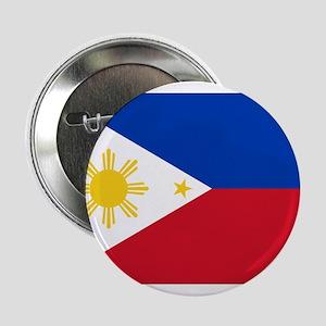 """Philippine flag 2.25"""" Button"""