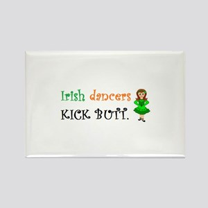 Irish Dancers Kick Butt Rectangle Magnet