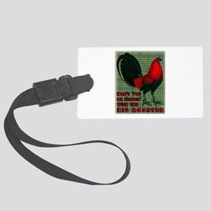 Big Red Rooster2 Large Luggage Tag