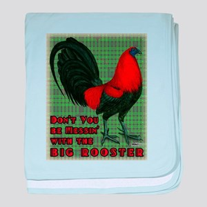Big Red Rooster2 baby blanket