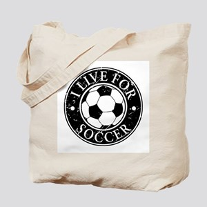 I Live for Soccer Tote Bag