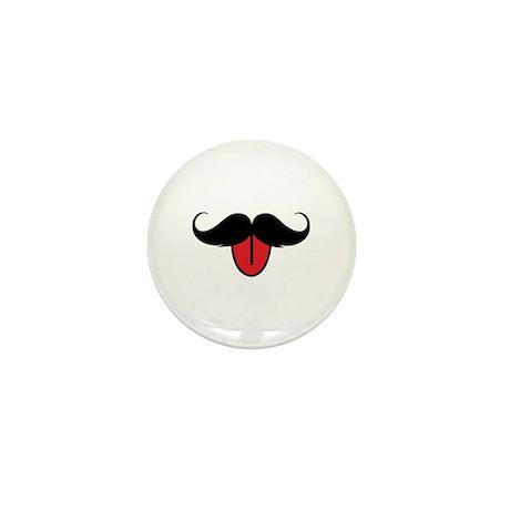 Funny moustache Mini Button