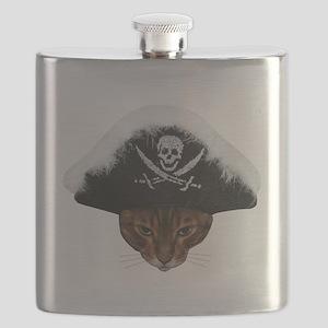 Pirate Bengal Cat Flask