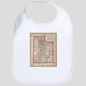 Vintage Map of Utah (1883) Baby Bib
