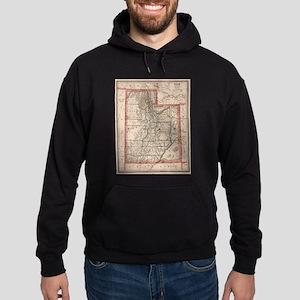 Vintage Map of Utah (1883) Sweatshirt