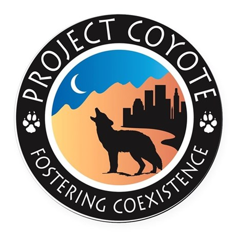 Project Coyote Logo Round Car Magnet