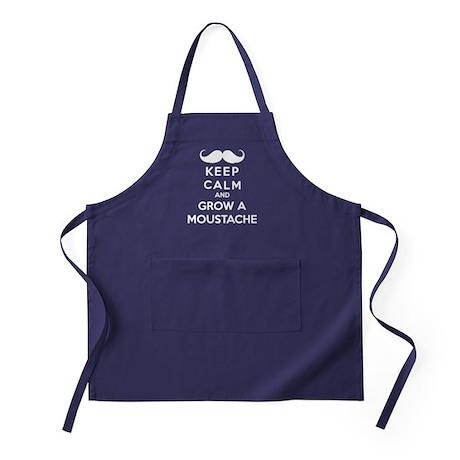 Keep calmd and grow a moustache Apron (dark)