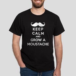 Keep calmd and grow a moustache Dark T-Shirt