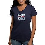Master of Science MSc Women's V-Neck Dark T-Shirt