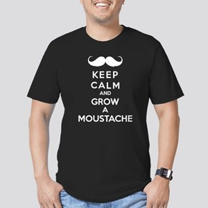 Keep calmd and grow a moustache Men's Fitted T-Shi