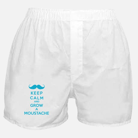 Keep calmd and grow a moustache Boxer Shorts