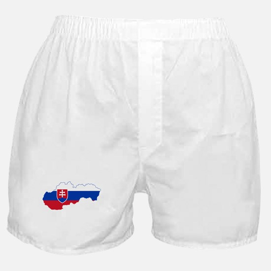 Slovakia Flag and Map Boxer Shorts