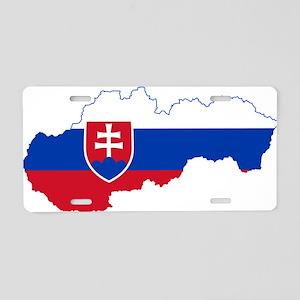 Slovakia Flag and Map Aluminum License Plate