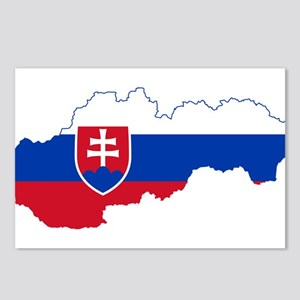 Slovakia Flag and Map Postcards (Package of 8)
