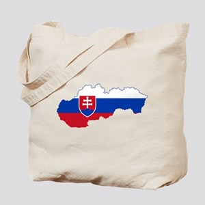 Slovakia Flag and Map Tote Bag