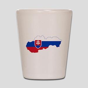 Slovakia Flag and Map Shot Glass