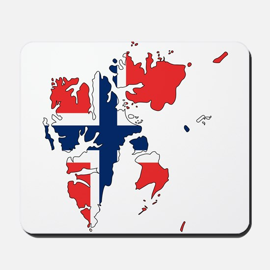 Svalbard Flag and Map Mousepad
