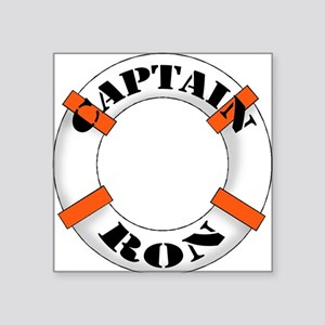 "cap ron Square Sticker 3"" x 3"""