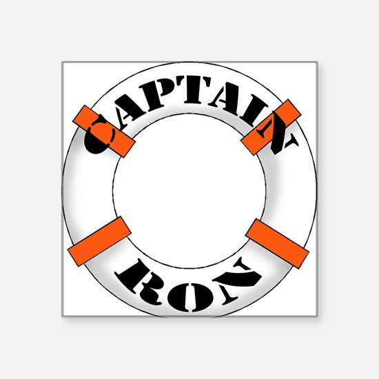 "cap ron.png Square Sticker 3"" x 3"""