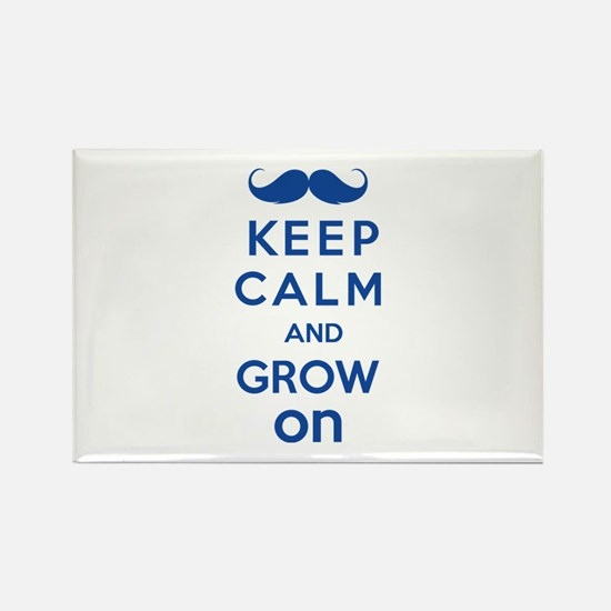 Keep calm and grow on Rectangle Magnet (10 pack)