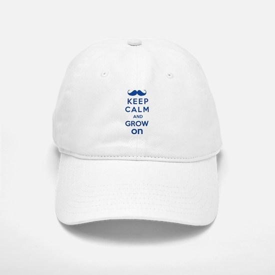 Keep calm and grow on Baseball Baseball Cap