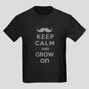 Keep calm and grow on Kids Dark T-Shirt