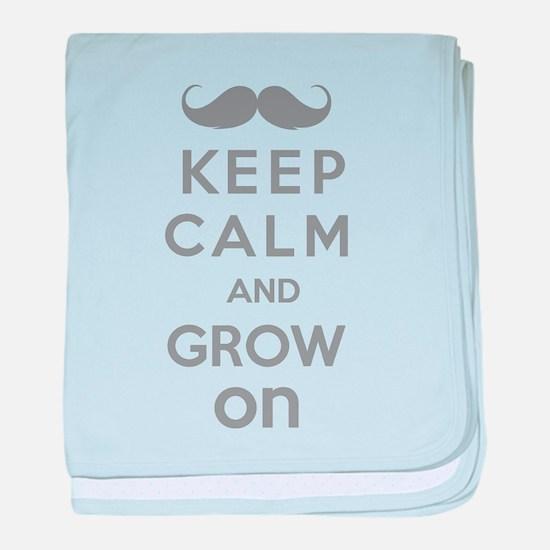 Keep calm and grow on baby blanket