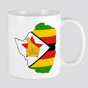Zimbabwe Flag and Map Mug