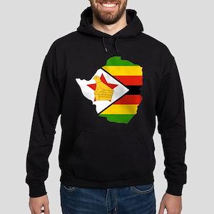Zimbabwe Flag and Map Hoodie (dark)