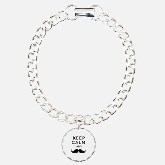 Keep calm and moustache Bracelet