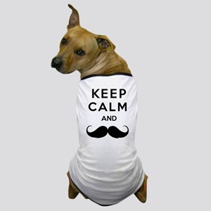 Keep calm and moustache Dog T-Shirt
