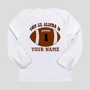 1st birthday allstar football Long Sleeve Infant T
