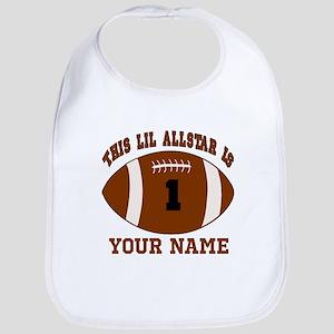 1st birthday allstar football Bib