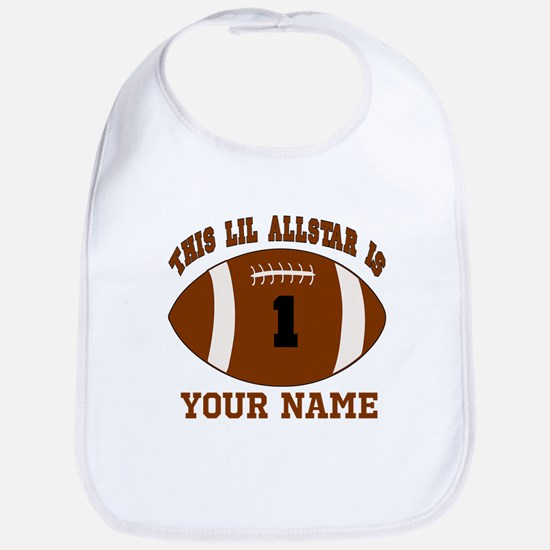 1st birthday allstar football Bib