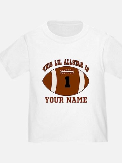 1st birthday allstar football T