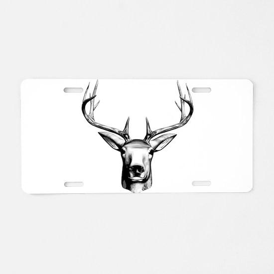 Deer Head Aluminum License Plate