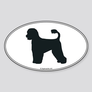 Portie Silhouette Oval Sticker