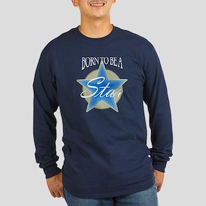 Star_Gold Long Sleeve Dark T-Shirt