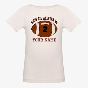 2nd Birthday Football Organic Baby T-Shirt