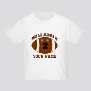 2nd Birthday Football Toddler T-Shirt