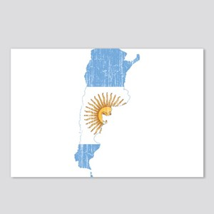 Argentina Flag And Map Postcards (Package of 8)