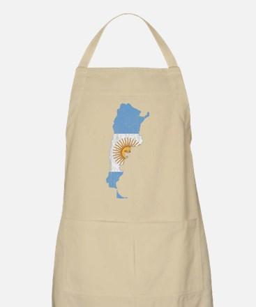 Argentina Flag And Map Apron
