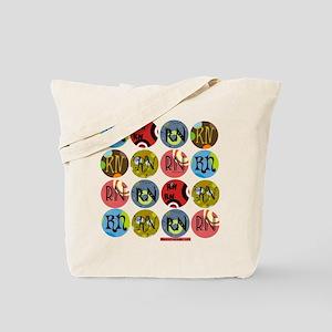 RN Colorful Polkadot Tote Bag