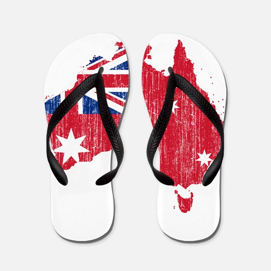 Australia Civil Ensign Flag And Map Flip Flops