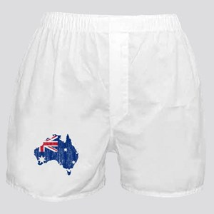 Australia Flag And Map Boxer Shorts